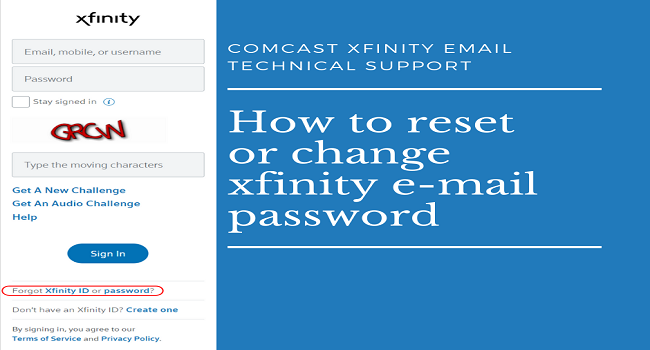 How Do I Change or Reset Comcast, Xfinity Email Password with all Process